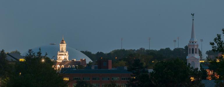 storrs campus at night